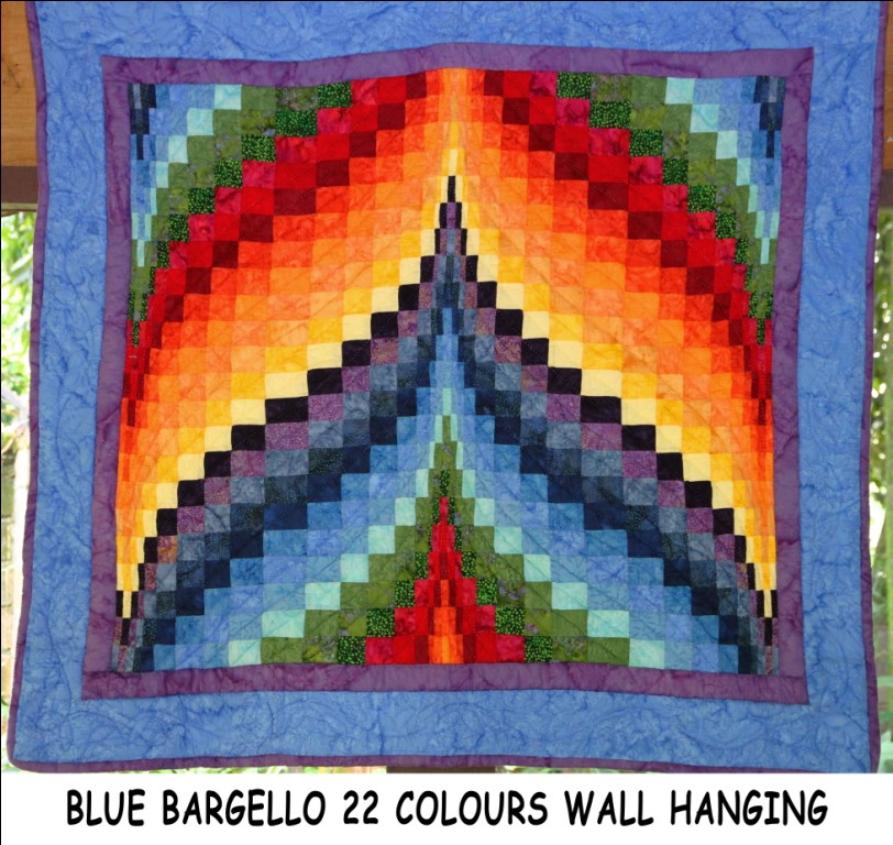 Blue Bargello 22 Colours Wall Hanging Simply The Best Quilts