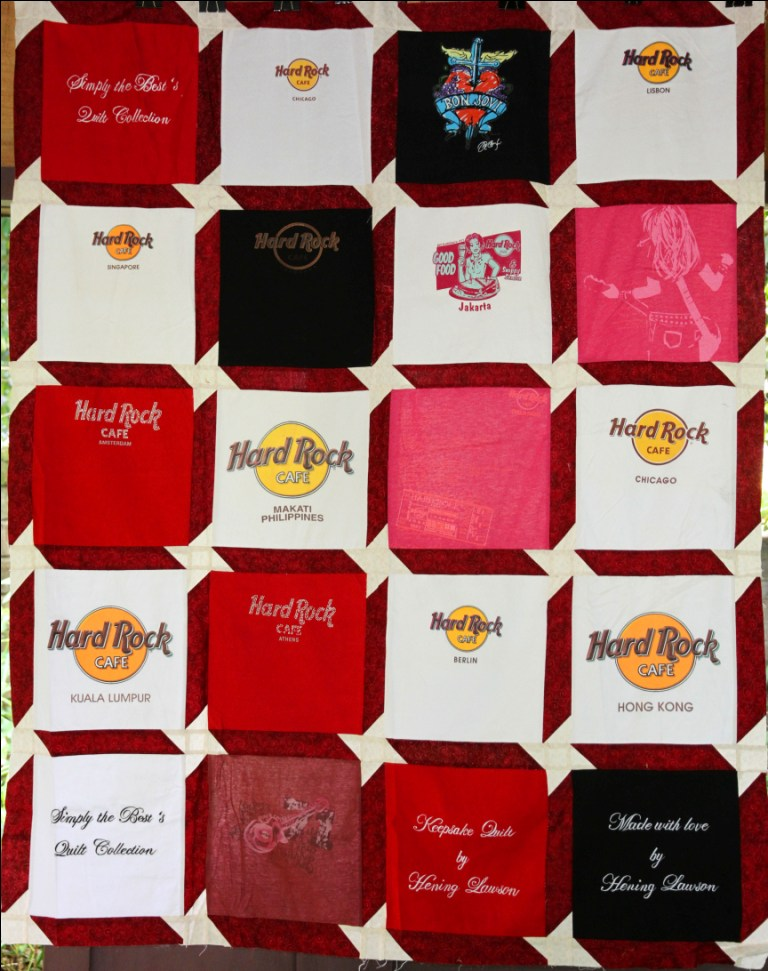 Hard Rock Cafe T Shirt Quilt Simply The Best Quilts