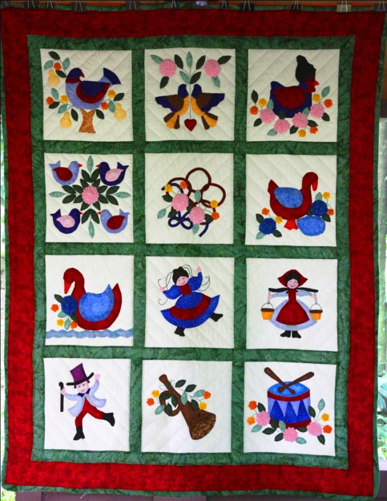 twelve days of christmas quilt best sofa fabric for cat hair best sofa fabric for cats with claws