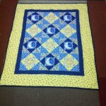 The Sun and The Blue Moon Quilt - a baby quilt