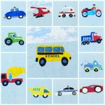 Vehicles Collection Quilt