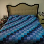 Blue Nine Patch King Size Quilt