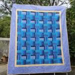 Blue Fence Rail Quilt