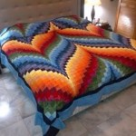 Blue Feather Bargello Quilt - 22 colors