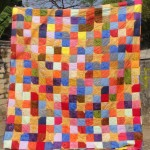 Yellow Star Scrappy Batik Quilt